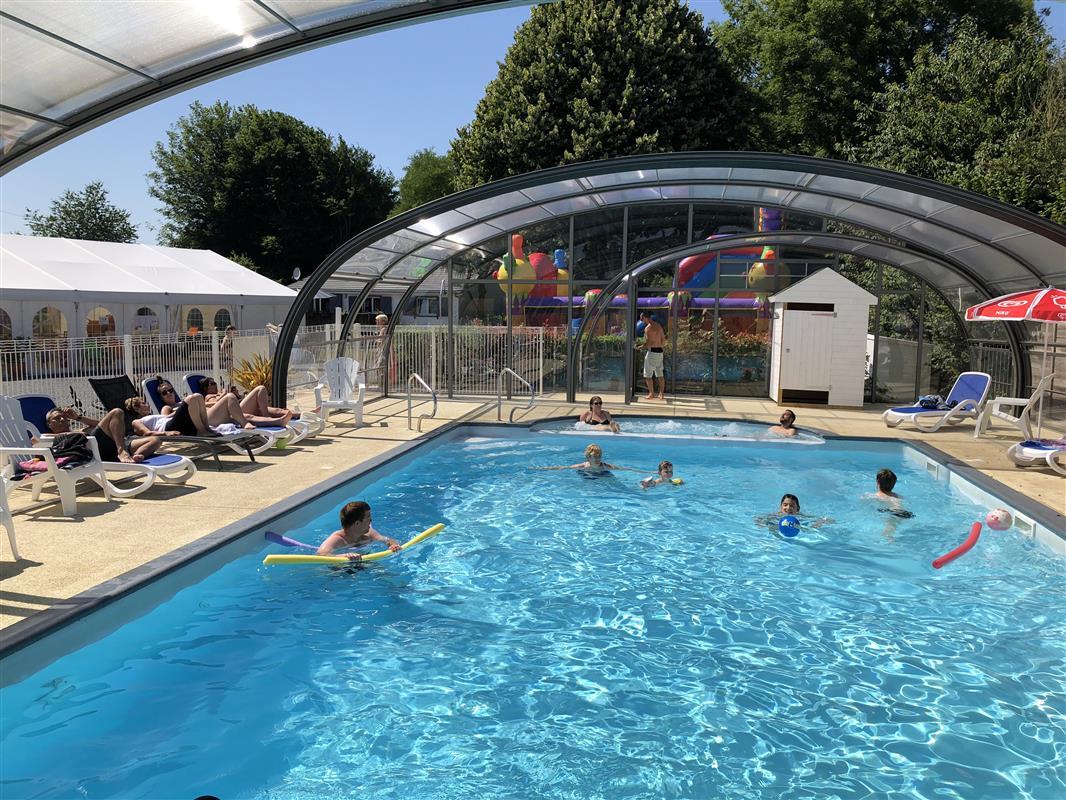 Camping avec piscine proche caen nouveaut du camping - Camping normandie avec piscine couverte ...